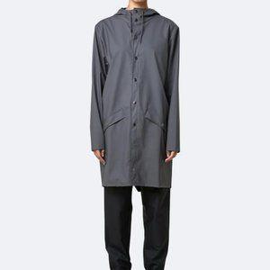 Rains | Long Rainjacket - Charcoal